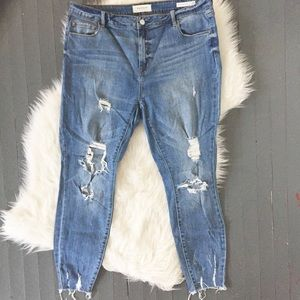 PacSun Distressed Mid-Rise Skinniest Ankle Jean